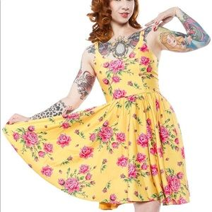 NWT Sourpuss Sweets Antique Rose Yellow Dress